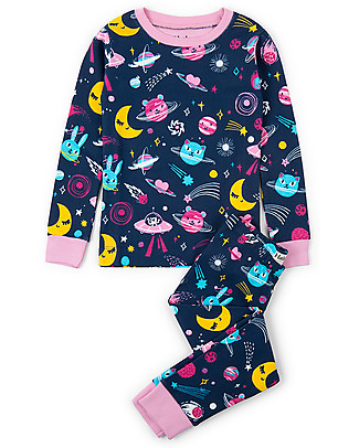 Hatley Long Sleeves Pajama Set, Animal Cosmos Glow - 100% organic cotton Pyjamas