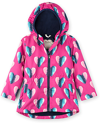 Hatley Microfiber Rain Jacket, Hearts - Hooded, lined and PVC-free Jackets