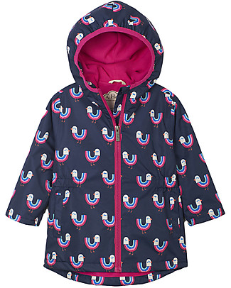 Hatley Microfiber Rain Jacket, Rainbow Birds - Seam sealed, Fully lined and PVC-free Jackets