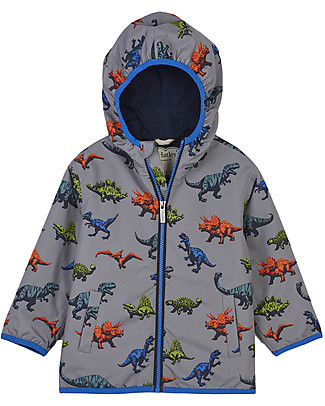 Hatley Microfiber Rain Jacket, Wild Dinos - Seam sealed, Fully lined and PVC-free Jackets