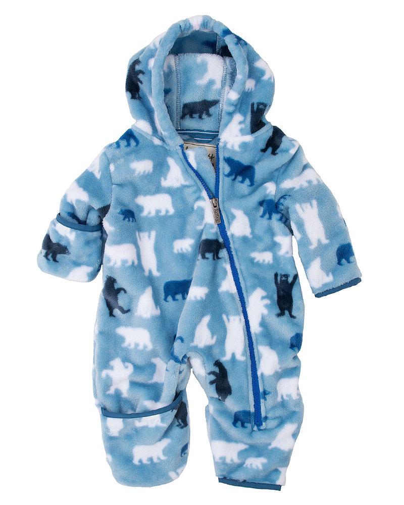 47704094a756 Hatley Polar Bear Fuzzy Fleece Bundler All in One with Hood unisex ...