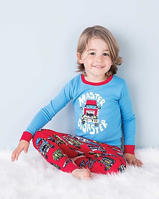 Hatley Raglan Sleeves Pajama Set, Master Disaster - 100% organic cotton Pyjamas
