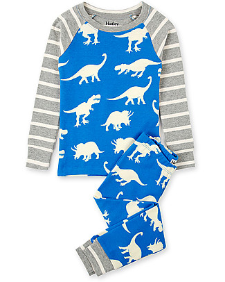 Hatley Raglan Sleeves Pajama Set, Roaming Dino - 100% organic cotton Pyjamas