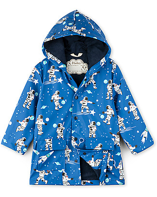 Hatley Raincoat, Athletic Astronauts - Hooded, lined and PVC-free Coats