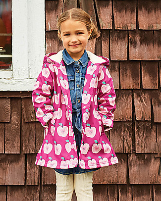 Hatley Sherpa Lined Splash Jacket - Apple Orchard Jackets