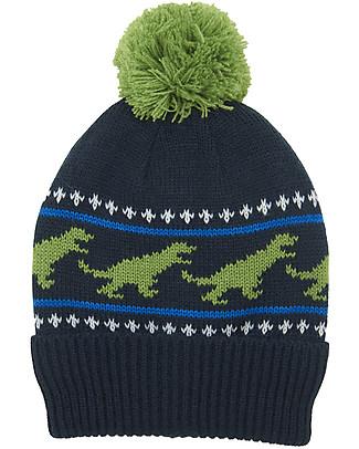 Hatley Winter Hat with Pompom - T-Rex Winter Hats