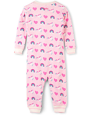 Hatley Zipped Coverall, Unicorns and Rainbows - 100% organic cotton - Easy and quick changing! Rompers