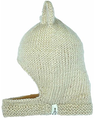 Hats Over Heels Lion Winter Cap, Beige (2-5 years) - 100% Merino Wool Hats