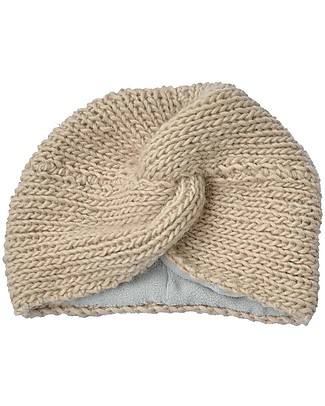 Hats Over Heels Turban Hat, Caramel (0-6, 6-12 e 12-24 months) - 100% Merino Wool Hats