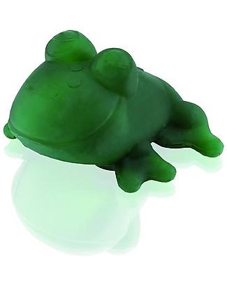 Hevea Bath Toy Fred the Frog, Green - 100% natural rubber Teethers