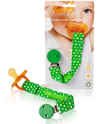 Hevea Hevea Organic Cotton Pacifier/Teether Holder - Green null