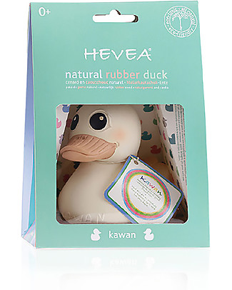 Hevea Kawan 3-in-one Toy - 100% Natural Rubber (painted with natural plant pigments) Bath Toys