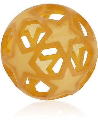 Hevea Natural Rubber Star Ball - Non-Toxic! Teethers