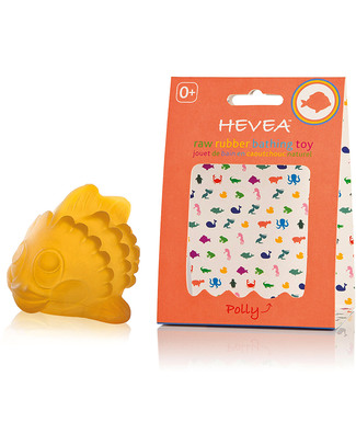 Hevea Polly the Fish Natural Rubber Bath Toy - Fun & Safe Bath Toys