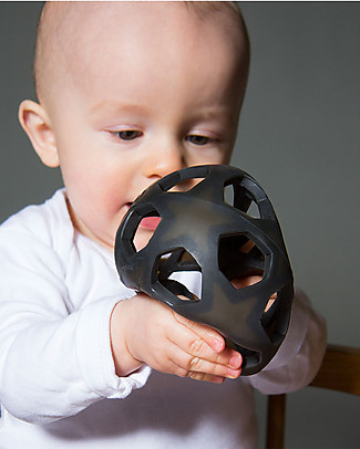 Hevea Star Ball - Dark Grey - Natural Rubber Star Ball - Non-Toxic! Teethers