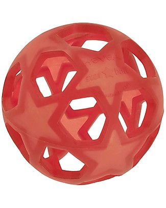 Hevea Star Ball - Red - Natural Rubber Star Ball - Non-Toxic! Teethers