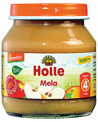 Holle Apple Fruit Jar, 125 gr – 100% fruit, after 4 months Baby Food