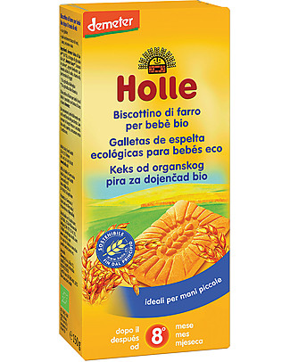 Holle Baby Organic Spelt Biscuit, 150 gr – From 8 moths Biscuits