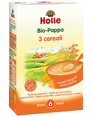 Holle Organic 3-Grain Porridge, 250 gr – After 6 months Baby Cereal