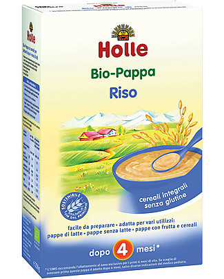 Holle Organic Rice Porridge, 250 gr - After 4 months Baby Cereal