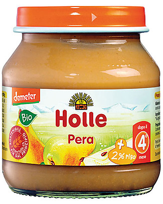 Holle Pear Fruit Jar, 125 gr – After 4 months Baby Food