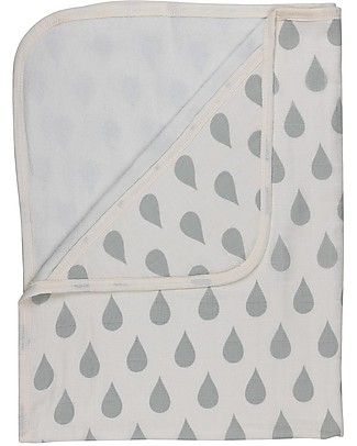 Huggee Big Water Drops Hooded Towel, 100% Organic Cotton - 75x100 cm Towels And Flannels