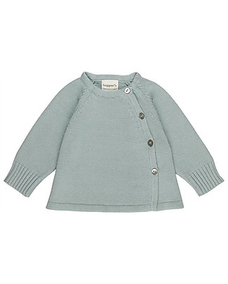 Huggee Knitted Cardigan, Ether Blue - 100% Organic Cotton Cardigans