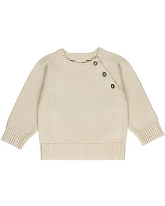 Huggee Knitted Sweater, Natural - 100% Organic Cotton Jumpers