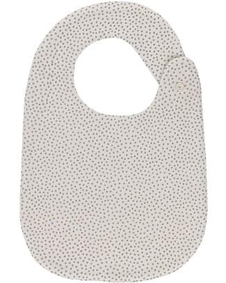 Huggee Mini Polka Dots Bib with Snap Adjustable Button, 100% Organic Cotton Snap Bibs