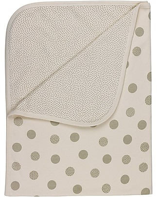 Huggee Polka Dots Blanket for Babies, White and Grey, 100% Organic Cotton - 100x75 cm Blankets