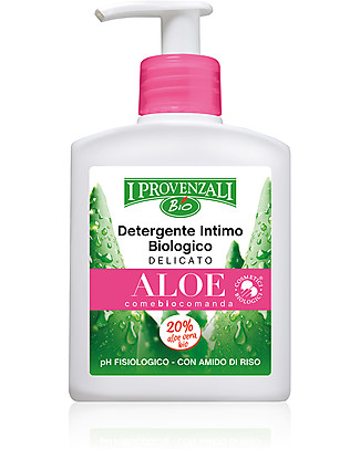 I Provenzali Organic Delicate Intimate Wash with Aloe, 200 ml - With rice starch Intimate Hygiene