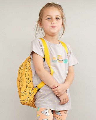 Indikidual Pak, Banana Print Back Pack - Orange Small Backpacks