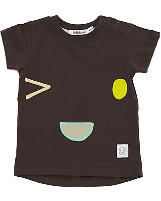 Indikidual Sake, Face Print T-Shirt, Black - 100% organic cotton T-Shirts And Vests