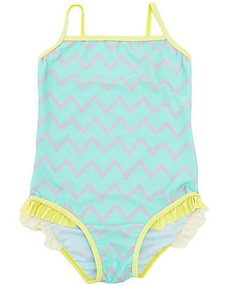 Indikidual Shrimp, Girl's Swimsuit, Mint / Zig Zag Swimsuits
