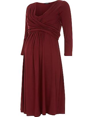 Isabella Oliver Emily Maternity and Nursing Dress - Bordeaux Dresses