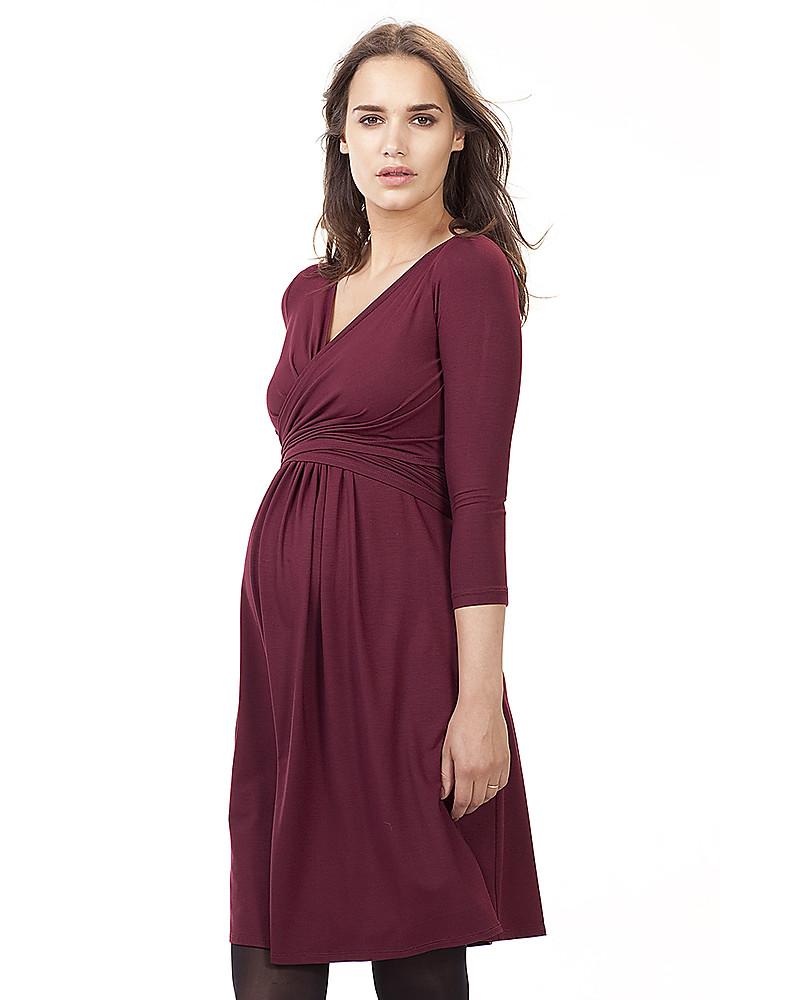 ec3288bc51204 Isabella Oliver Emily Maternity and Nursing Dress - Bordeaux Dresses