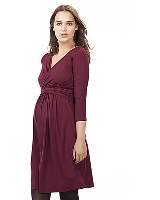 Isabella Oliver Emily Maternity and Nursing Dress - Bordeaux null