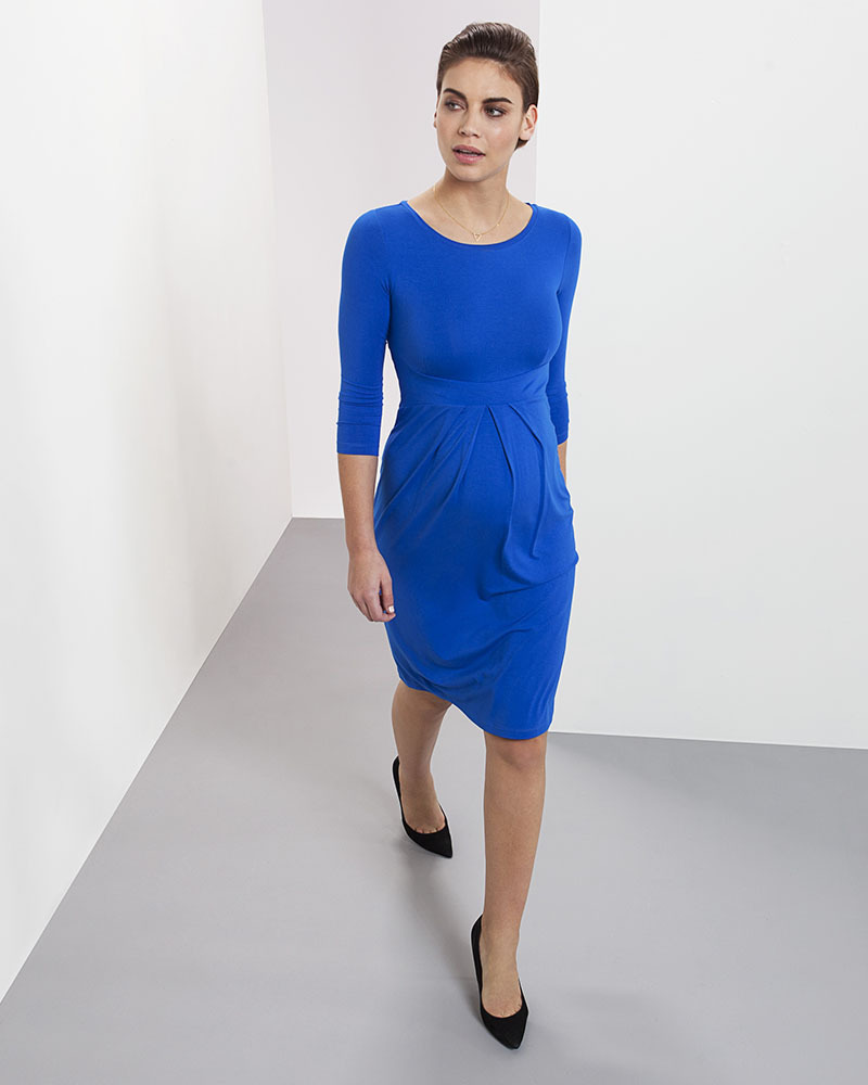 Isabella oliver ivybridge maternity dress pleated waist cobalt isabella oliver ivybridge maternity dress pleated waist cobalt blue dresses ombrellifo Images