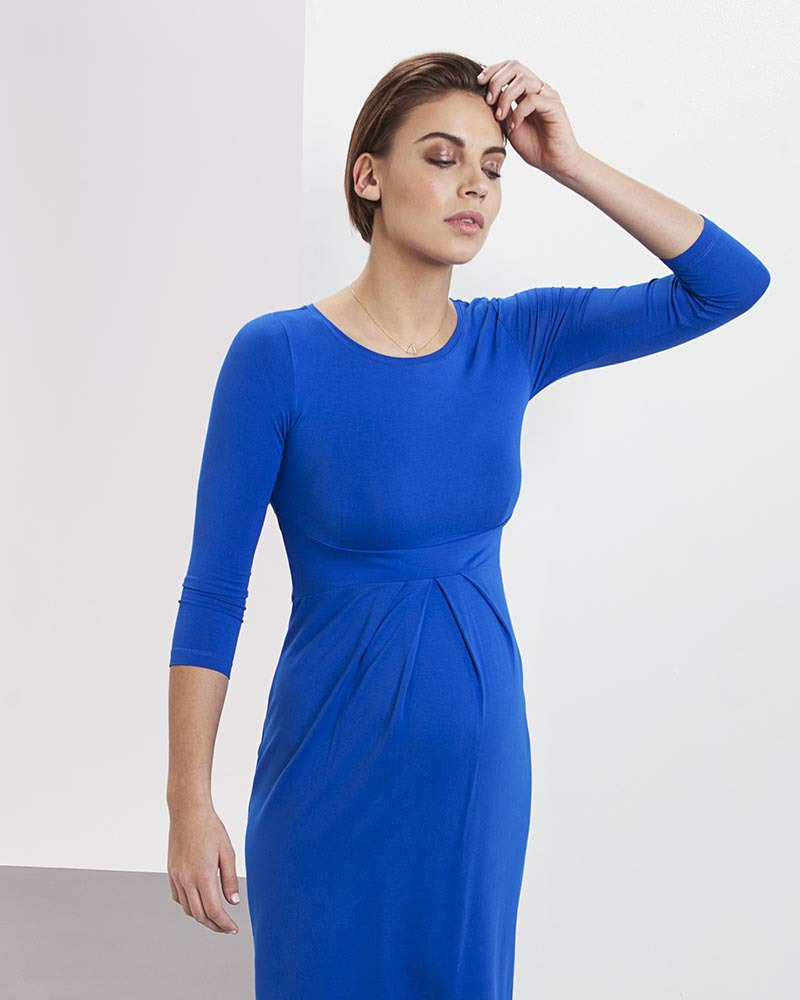 157770b5ed9 Isabella Oliver Ivybridge Maternity Dress - Pleated Waist - Cobalt Blue!  Dresses