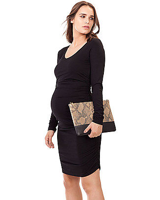 Isabella Oliver Maternity Midi Dress - Caviar Black -THE Maternity LBD! Dresses