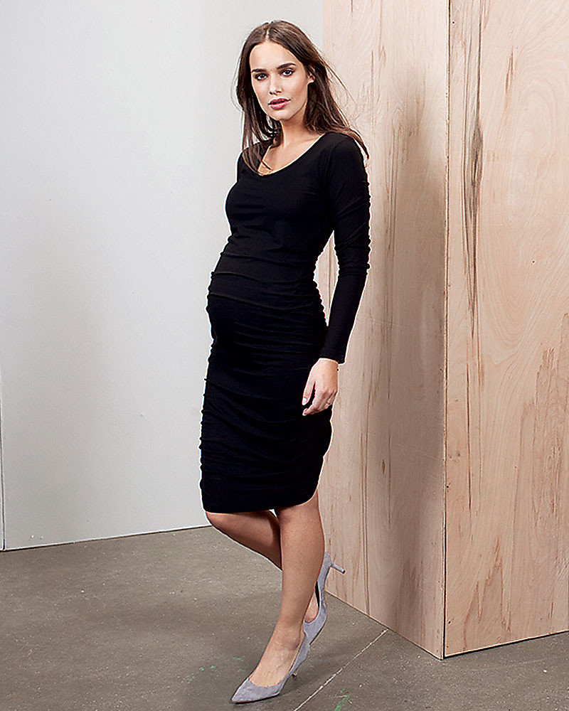 85af9fc2494 Isabella Oliver Maternity Midi Dress - Caviar Black -THE Maternity LBD!  Dresses