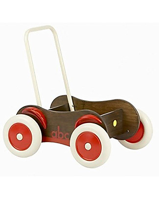 Italtrike Abc Chocolate, Wooden Cart Toy First Steps + Storage Box Wooden Push & Pull Toys