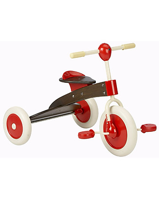 Italtrike Abc Chocolate, Wooden Tricycle, Indoor or Outdoor Use Bycicles