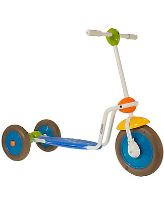 Italtrike ABC Scooter for Kids, Three Wheels Push Scooter with Wide Deck Balance Bikes