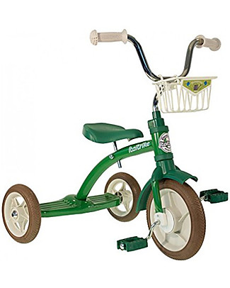 Italtrike Classic Line Super Lucy, High Quality Tricycle, Metal Structure - Green Bycicles