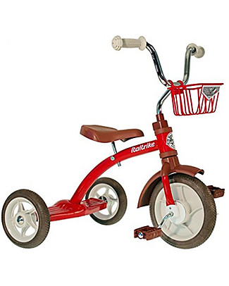 Italtrike Classic Line Super Lucy, High Quality Tricycle, Metal Structure - Red Bycicles