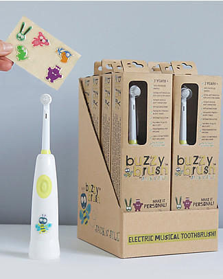 Jack 'n Jill Buzzy Brush Electric Musical Toothbrush - Interactive and Fun! Toothpaste and Toothbrush