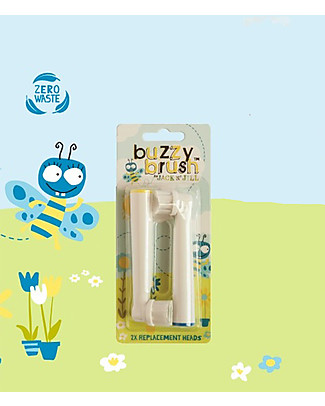Jack 'n Jill Buzzy Brush Replacement Heads for Electric ToothBrush - 2 Pack Toothpaste and Toothbrush