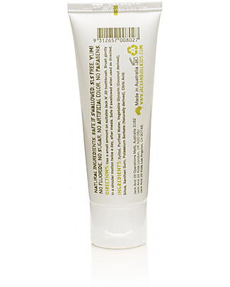Jack 'n Jill Kids Calendula Toothpaste, Flavour Free - 50g Toothpaste and Toothbrush