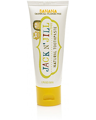 Jack 'n Jill Kids Toothpaste, Banana and Calendula, 50 g Face